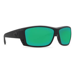 Costa Del Mar Men's Cat Cay Polarized Sunglasses with Green Mirror Lens