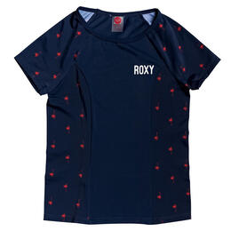 Roxy Girl's Chasing Love Short Sleeve Rashguard