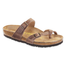 Birkenstock Women's Mayari Oiled Leather Casual Sandals Tabacco Brown