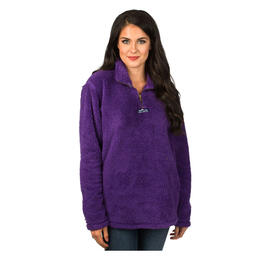 Lauren James Women's Linden Sherpa Fleece Hoodie Purple