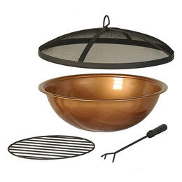 Hanamint Copper Painted Steel Bowl And Accessories