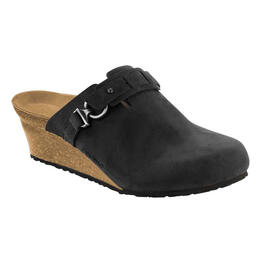 Birkenstock Women's Dana Oiled Leather Wedge Clogs