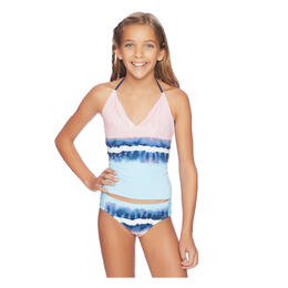 Splendid Girl's Tie Dye Stripe Tankini Swim Set