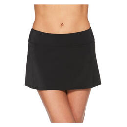 Jag Sport Women's Runaround Skirt Swim Bottoms Black