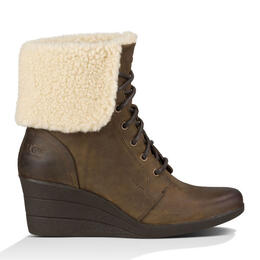 UGG® Women's Zea Leather Uptown Wedge Boots