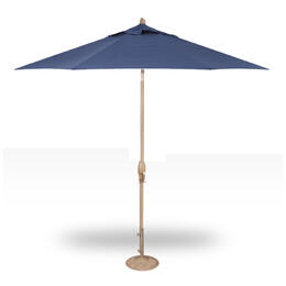 Treasure Garden 9' Auto Tilt Umbrella - Champagne with Neptune