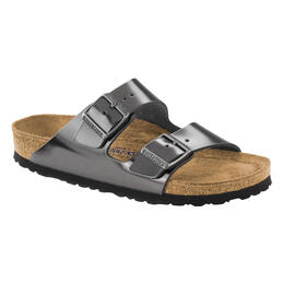 Birkenstock Women's Arizona Soft Metallic Leather Sandals