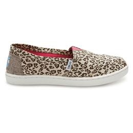 Toms Children's Metallic Canvas Classic Casual Shoes