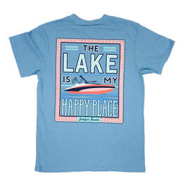 Jadelynn Brooke Women's The Lake Is My Happy Place Short Sleeve Pocket Tee Shirt