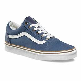 Vans Women's Sun Faded Old Skool Vintage Indigo Shoes