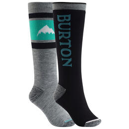 Burton Women's Weekend Midweight Snowboard Socks 2 Pack Blue