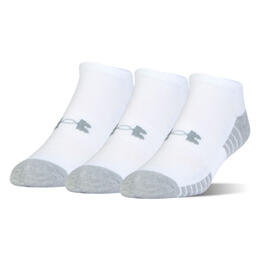 Under Armour Men's HeatGear Tech No Show Socks - 3-Pack