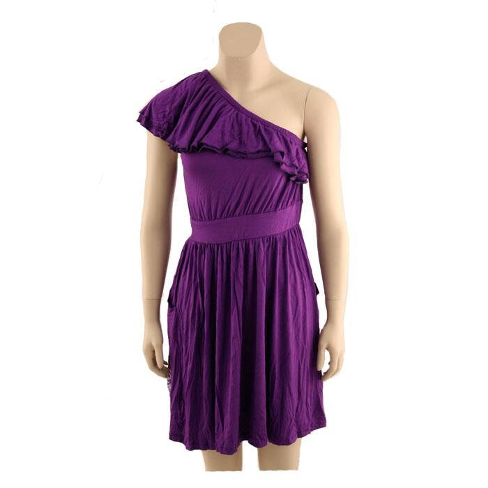 Original Retro Brand Women's Tcu One Shoulder Dress