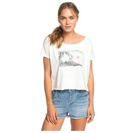 Roxy Women's Island Girl Cropped BF Crew Tee Shirt