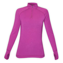 Hot Chillys Women's MTF4000 Solid Baselayer Zip-t Top