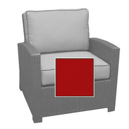 North Cape Cabo Club Chair Cushion - Flagship Ruby W/ Canvas Bay Welt