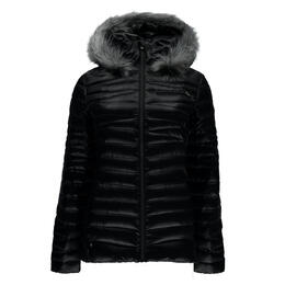 Spyder Women's Timeless Hoody Faux Fur Insulated Jacket