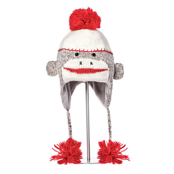 Knitwits Cute Sock Monkey Pilot Hat