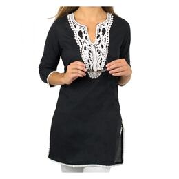 Gretchen Scott Whiteworks Embroidered Tunic