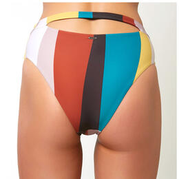 O'neill Women's Sapa Stripe High Waist Bikini Bottom