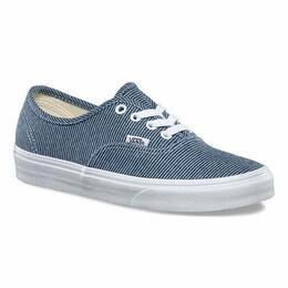 Vans Women's Jersey Authentic Blue Stripe Shoes