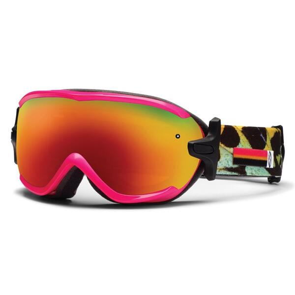 Smith Women's Virtue Snow Goggles with Red Sol-X Lens