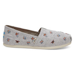 Toms Woman's Seasonal Alpargata Casual Slip On Shoe Drizzle Grey