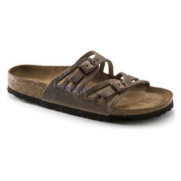 Birkenstock Women's Granada Oiled Leather Casual Sandals Tabacco Brown