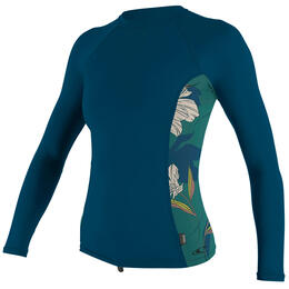 O'neill Women's Side Print Long Sleeve Rashguard