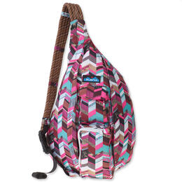 KAVU Women's Rope Sling Sunset Blocks Backpack