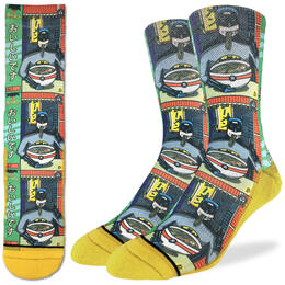 Good Luck Socks Men's Batman & Ramen Socks