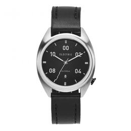 Electric OW01 Leather Watch Black