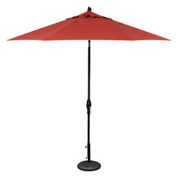 Treasure Garden 9' Auto Tilt Umbrella - Black with Pomegranate