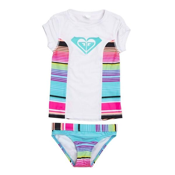 Roxy Girl's Border Rashguard Set