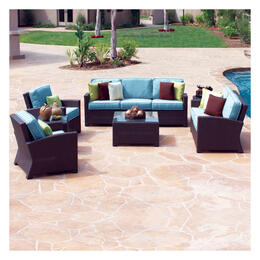 North Cape Cabo Jaco Bean Loveseat 4-Piece Deep Seating Set