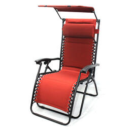 LB International Padded Gravity Lounge Chair with Top