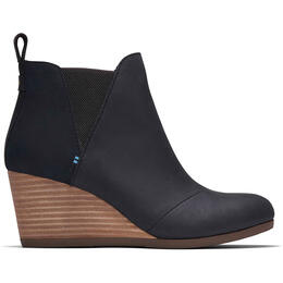 Toms Women's Kelsey Booties Black Leather