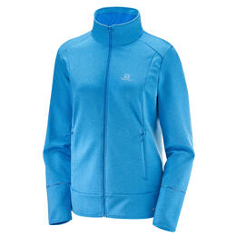 Salomon Women's Discovery Full Zip Top, Hawaiian Surf