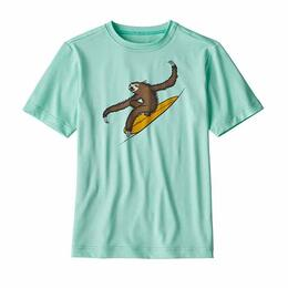Patagonia Boys' Capilene Silkweight Bend Blue Graphic Tee Rashguard