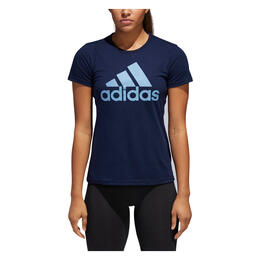 Adidas Women's Badge Of Sport Classic Short Sleeve T Shirt Collegiate Navy
