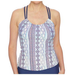 Next By Athena Women's Stargazing Third Eye 3 Shirred Tankini Top