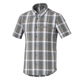 Shimano Men's Transit Check Button Short Sleeve Shirt