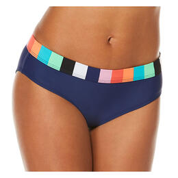 Jag Sport Women's Holiday Knits Stripe Bikini Bottoms