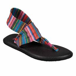 Sanuk Girl's Yoga Slng Burst Print Sandals