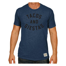 Original Retro Brand Men's Tacos And Siestas T Shirt