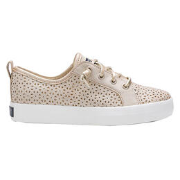 Sperry Girl's Crest Vibe Perf Champagne Sneakers
