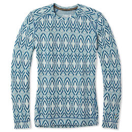 Smartwool Women's Merino 250 Pattern Crew Top Blue