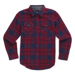 Vans Boy's Monterey II Long Sleeve Flannel Shirt