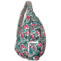KAVU Women's Rope Sling Painted Floral Backpack