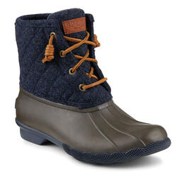 Sperry Women's Saltwater Quilted Wool Rain Boots